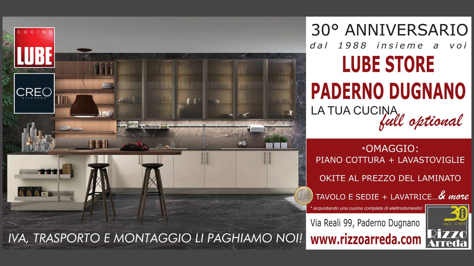 Cucina Completa Di Elettrodomestici Tavolo E Sedie.30 Anniversario Rizzo Arreda Lube Arredamenti Paderno Dugnano